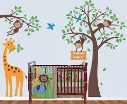 Safari Nursery Wall Decals Wall Decal Monkey Wall Decals For Nursery Monkey Wall