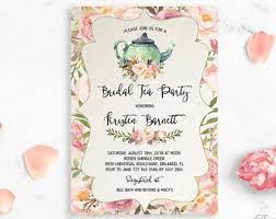 bridal tea party invitations bridal tea party etsy