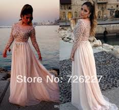 2014 new arrival girls evening gown beads and crystals long