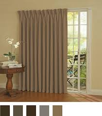 drapery ideas for sliding glass doors amazon com eclipse thermal blackout patio door curtain panel 100
