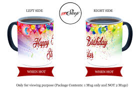 happy birthday design for mug mesleep happy birthday sister personalized color changing ceramic