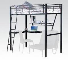 High Sleeper With Desk And Futon Loft Beds With Desk And Futon Foter