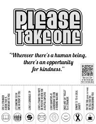acts of kindness flyer bandw holidays pinterest random