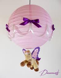 abat jour chambre fille le suspension enfant bébé caramel le poney ailé et violet