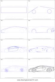 cartoon sports car side view how to draw lamborghini centenario side view printable step by