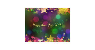 new year post card happy new year 2018 confetti postcard zazzle