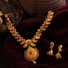 necklace design images 1 gram gold gold finish necklace set mango motif classic design 07 jpg