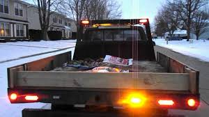 snow plow strobe lights speed tech lights snow plow truck set up so far youtube