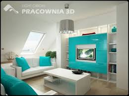 apartment themes bright blue themes small apartment design by pracownia 3d image