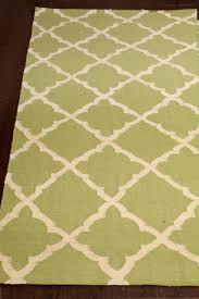 rugsville moroccan trellis lime green wool dhurrie rug 5 u0027 x 8