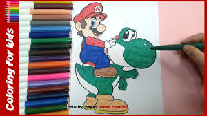 super mario coloring pages for kids from coloring pages shosh