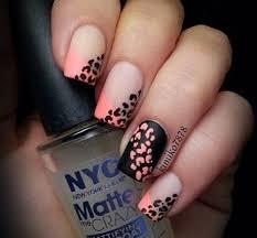 black and pink cheetah nails nail pink cheetah