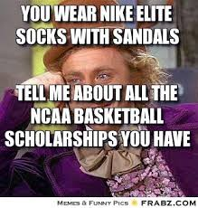 Funny Willy Wonka Memes - you wear nike elite socks with sandals willy wonka meme generator