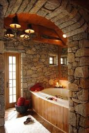 stone wall bathroom black vanity mix white marble sink black stone