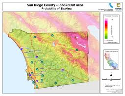 Maps San Diego by The Great California Shakeout San Diego County Earthquake Hazards