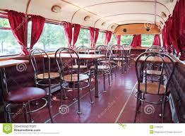 Double Decker Bus Floor Plan Perm Russia Jun 11 2013 Tables In Double Decker Bus Cafe