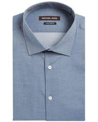 michael kors men u0027s classic fit non iron french cuff dress shirt in