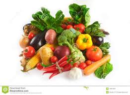 mix of fruits and vegetables royalty free stock photography