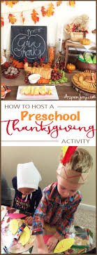 how to host a preschool thanksgiving activity aspen