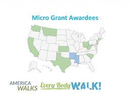 Map Grant Every Body Walk Micro Grants Awarded Americawalks
