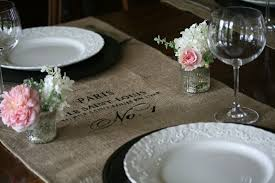 Table Runners For Dining Room Table Eab Designs Burlap Table Runners