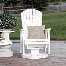 amish fan back poly wood swivel glider leisure lawns collection