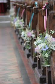 ya ya creationsaisle decorations jam jars with posies for the pew ends this is a possibility once