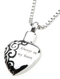 ashes necklace memorial necklace chelsea 13 always in my heart