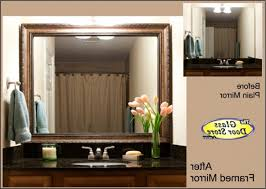 Bathroom Mirrors Lowes by Diy Frame Existing Bathroom Mirror Lowe U0027s Kit About Mirror Tiles