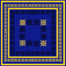 Yellow Lattice Rug Blue And Gold Area Rugs Roselawnlutheran