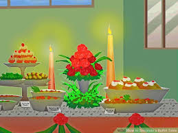 decorating buffet table how to decorate a buffet table with pictures wikihow