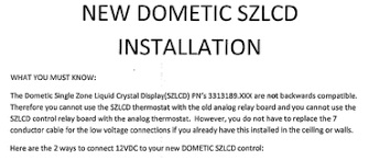 Free Download Thermostat Installation Instructions Dometic