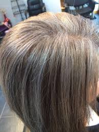 transitioning to gray hair with lowlights silver highlights easy way to start the transition to having