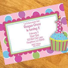1st birthday girl cupcake 1st birthday girl personalized invitations