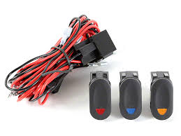 rugged ridge wrangler wiring harness for 3 hid offroad fog lights