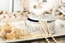 pearl necklace jewelry box images Antique jewelry box with pearls on ladies dressing table with jpg