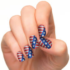 amazon com incoco nail polish strips patriotic nail art stars
