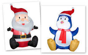 walmart santa and penguin airblown 3 5 inflatables 30