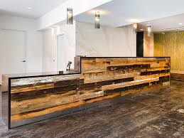 Wood Reception Desk Arnold Contract Reclaimed Wood Reception Desk Reception Desks