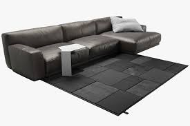 Poliform Sofa Poliform Sofa Leather Sectional Sofa