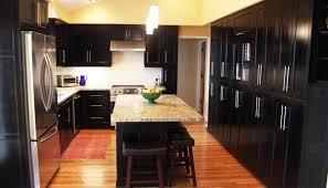 dark kitchen cabinets with light granite captivating interior