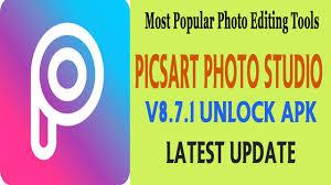 picsart photo editor apk picsart photo studio v8 7 1 unlocked apk