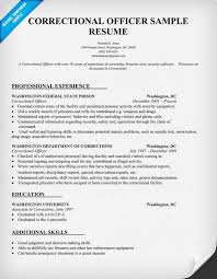 Law Enforcement Resume Template Correctional Officer Resume Sample Law Resumecompanion Com