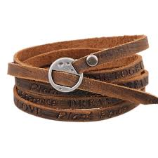 ladies leather strap bracelet images Men women leather wrap bracelet multilayer bracelet kwnshop jpg