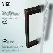 Frameless Shower Door Handle by Vigo Vg6072arbcmc28 Soho 28 Adjustable Frameless Shower Door With
