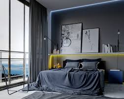 cool bedroom ideas for men also gray curtain color and modern