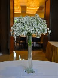 Flower Arrangements For Tall Vases Baby U0027s Breath Wedding Trend Winter White Flowers How To Wire