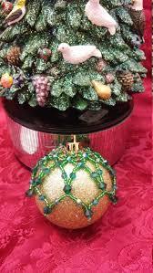 sparkly christmas beaded ornament cover beaded ornament christmas
