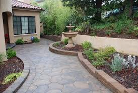 Small Garden Retaining Wall Ideas Decor Tips Front Yard With Garden Ideas And Small Retaining