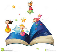 a book with children stock vector illustration of image